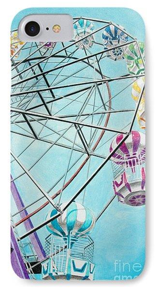 Ferris Wheel View Phone Case by Glenda Zuckerman