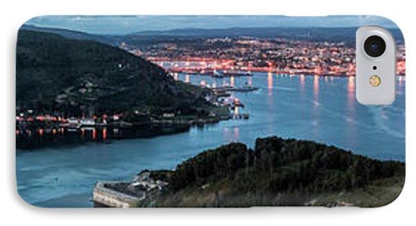 Ferrol's Estuary Panorama From La Bailadora Galicia Spain IPhone Case