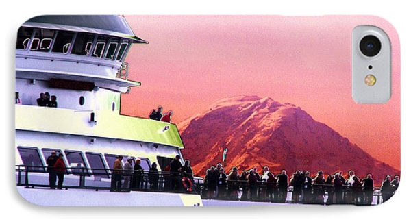 Ferry And Da Mountain Phone Case by Tim Allen