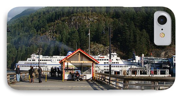 IPhone Case featuring the painting Ferry Landed At Horseshoe Bay by Rod Jellison