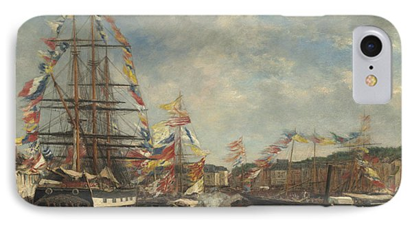 Festival In The Harbor Of Honfleur IPhone Case
