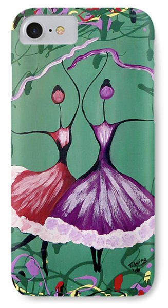IPhone Case featuring the painting Festive Dancers by Teresa Wing