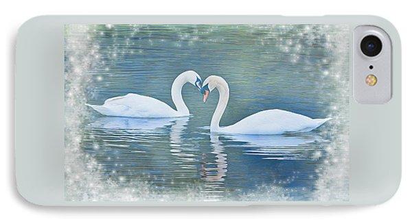 Festive Swan Love IPhone Case