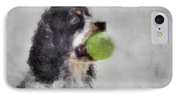 IPhone Case featuring the photograph Fetching Cocker Spaniel  by Benanne Stiens