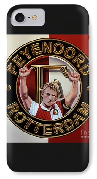 Feyenoord Rotterdam Painting IPhone Case by Paul Meijering