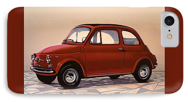 Fiat 500 1957 Painting IPhone Case by Paul Meijering