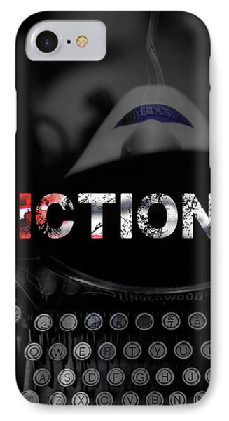 IPhone Case featuring the digital art Fiction Ink by Nola Lee Kelsey