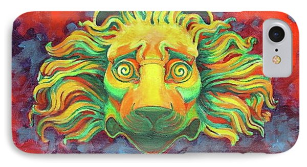 IPhone Case featuring the painting Fidardo's Lion by Andrew Danielsen