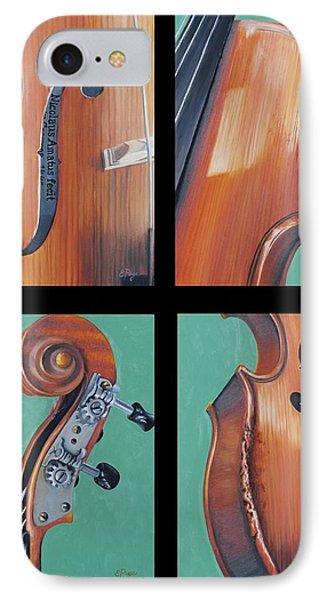 Fiddle Quartet Phone Case by Emily Page