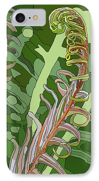 Fiddlehead IPhone Case by Jamie Downs
