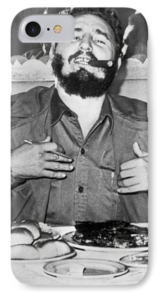 Fidel Castro In New York IPhone Case by Underwood Archives