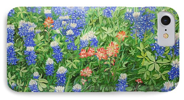 Field Of Blue IPhone Case by Mike Ivey