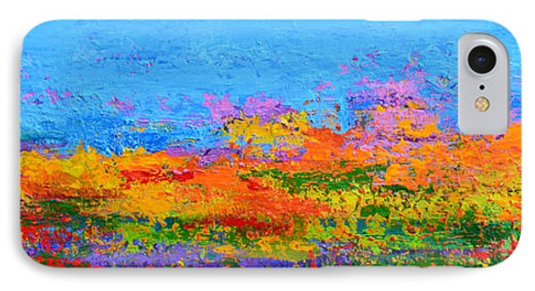 Abstract Field Of Wildflowers, Modern Art Palette Knife IPhone Case