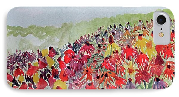 IPhone Case featuring the painting Field Of Flowers by Sandy McIntire