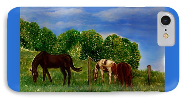 Field Of Horses' Dreams IPhone Case by Kimberlee Baxter