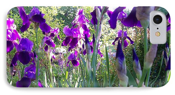 IPhone Case featuring the digital art Field Of Irises by Barbara S Nickerson