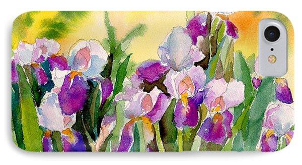Field Of Irises IPhone Case by Yolanda Koh