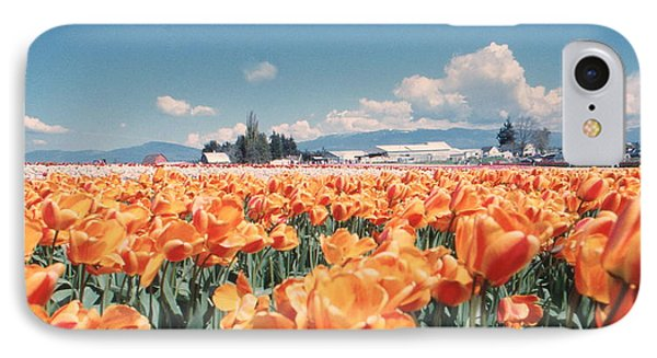 Field Of Orange IPhone Case by Ansel Price