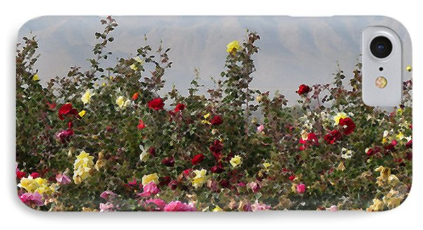 IPhone Case featuring the photograph Field Of Roses by Laurel Powell