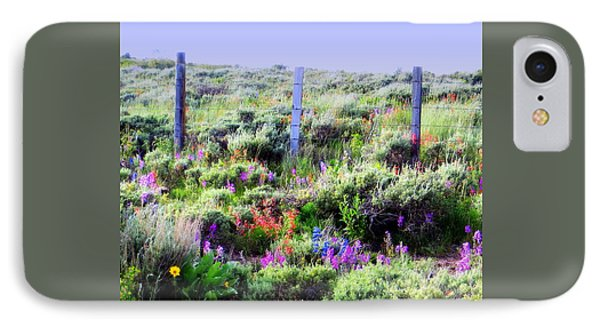 IPhone 7 Case featuring the photograph Field Of Wildflowers by Karen Shackles