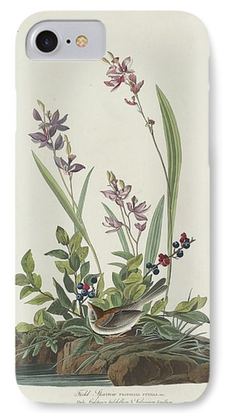 Field Sparrow IPhone 7 Case by Anton Oreshkin