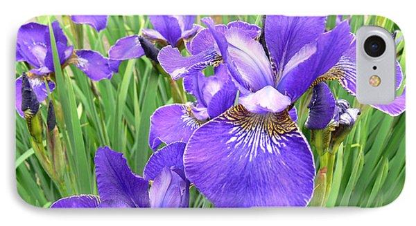 Fields Of Purple Japanese Irises Phone Case by Jennie Marie Schell