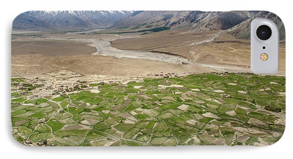 IPhone Case featuring the photograph Fields Of Zangla, Zanskar, 2008 by Hitendra SINKAR