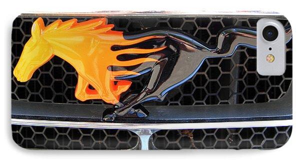 Fiery Mustang IPhone Case