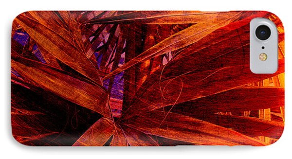 Fiery Palm Phone Case by Susanne Van Hulst