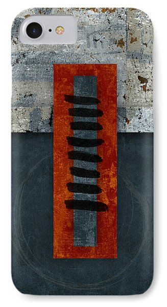 Fiery Red And Indigo One Of Two IPhone Case by Carol Leigh