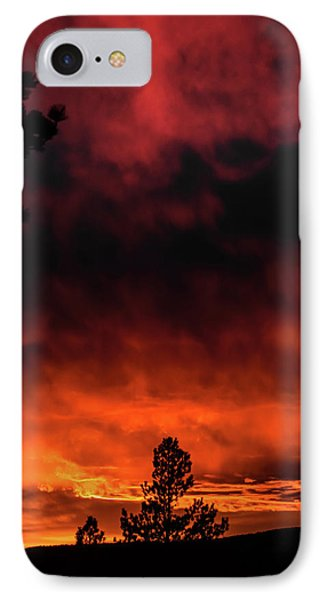 Fiery Sky IPhone Case by Jason Coward