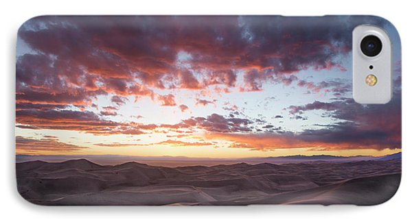 Fiery Sunset Over The Dunes IPhone Case by Aaron Spong