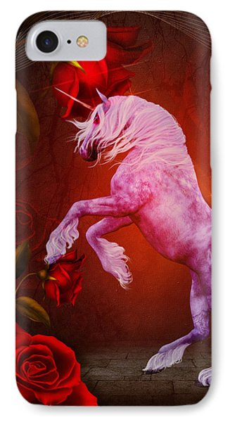 Fiery Unicorn Fantasy IPhone Case by Smilin Eyes  Treasures