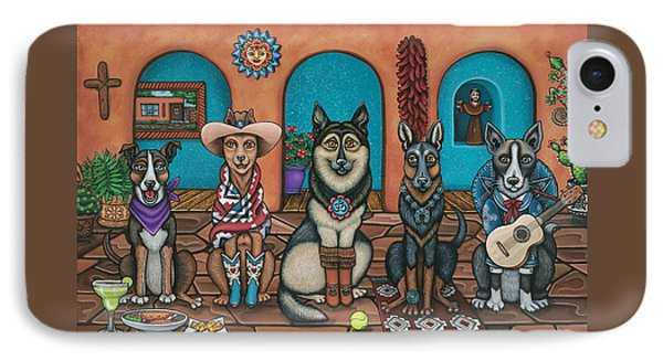 Fiesta Dogs IPhone Case by Victoria De Almeida