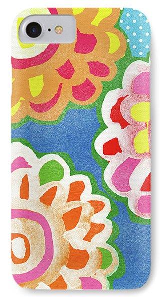 Fiesta Floral 3- Art By Linda Woods IPhone Case