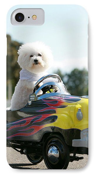 Fifi Goes For A Car Ride Phone Case by Michael Ledray