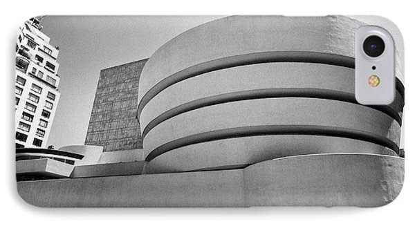 fifth avenue at the Solomon Guggenheim museum in carnegie hill upper east side New York City USA IPhone Case
