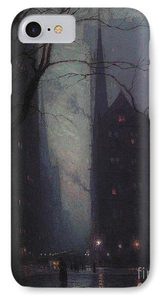 Fifth Avenue At Twilight IPhone Case by Lowell Birge Harrison