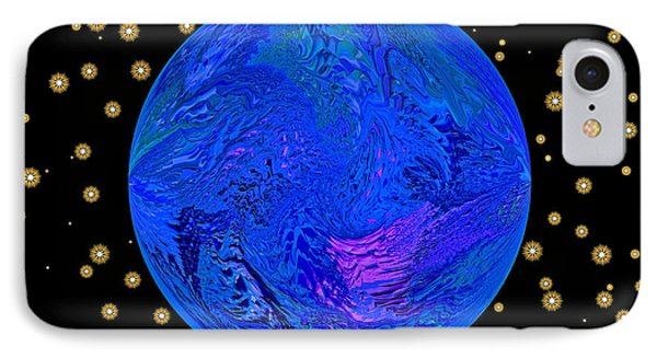 Fifth Dimension Earth IPhone Case by Anna Louise