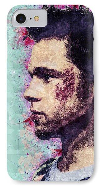 Fight Club Poster - Brad Pitt - Tyler Durden IPhone Case