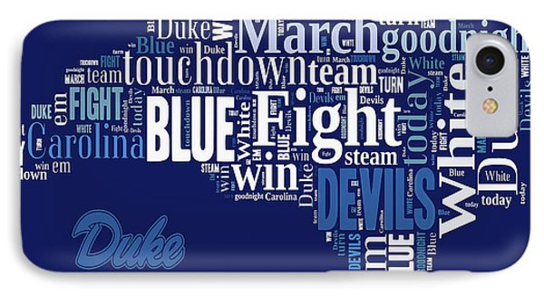 Fight Fight Blue Devils IPhone Case by Paulette B Wright