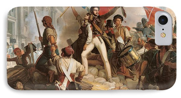 Fighting At The Hotel De Ville IPhone Case by Jean Victor Schnetz