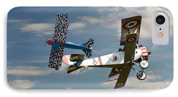 Fighting Colours 2 - Fokker D. Vll - Nieuport IPhone Case by Pat Speirs