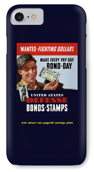 Fighting Dollars Wanted IPhone Case by War Is Hell Store