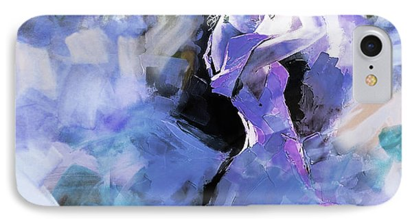 IPhone Case featuring the painting Figurative Dance Art 509w by Gull G