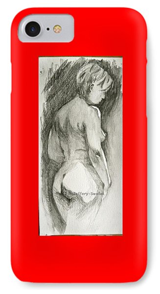 Figure Drawing.2. Phone Case by SJV Jeffery-Swailes