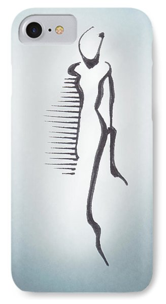 IPhone Case featuring the drawing Figure I by Keith A Link