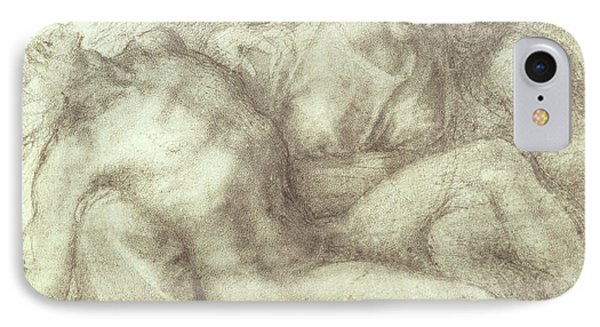 Figures Study For The Lamentation Over The Dead Christ, 1530 IPhone Case by Michelangelo