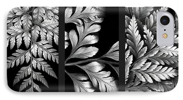 Filigree Fern Triptych IPhone Case by Jessica Jenney