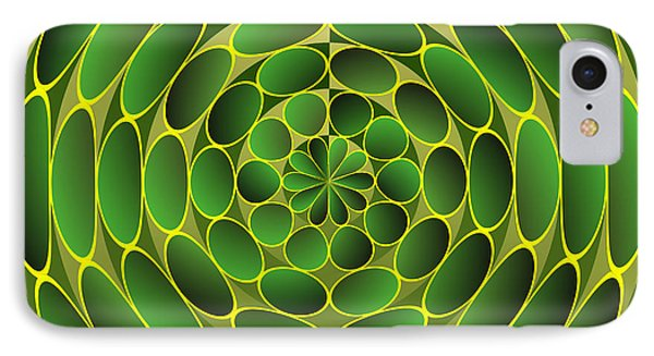 Filled Green Ellipses IPhone Case by Gaspar Avila
